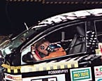 Crash test dummy in VW fox- close-up