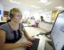 A member of staff at our call centre