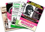 A spread of collection leaflets