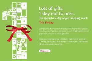 Apple store black friday online teaser