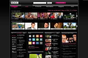 BBC iPlayer interface