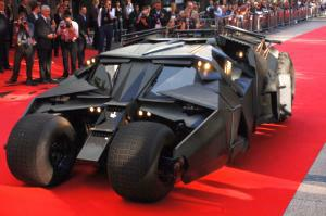 Dark Knight batmobile Leicester Square London premiere