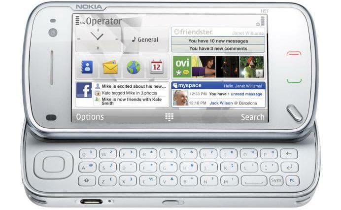 Nokia N97 white keyboard