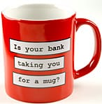 Red mug with slogan