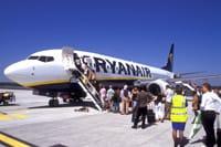 Ryanair- people getting on airline