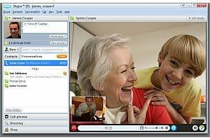 Skype 4.0 video screenshot