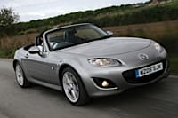 The MX-5 is available with a 'PowerShift' automatic gearbox