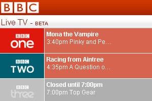 BBC mobile Live TV screenshot