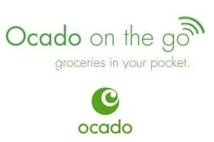 Ocado on the Go groceries in your pocket logo