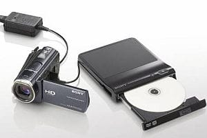 Sony Handycam and portable DVD recorder