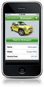 Zipcar: new iPhone app in action