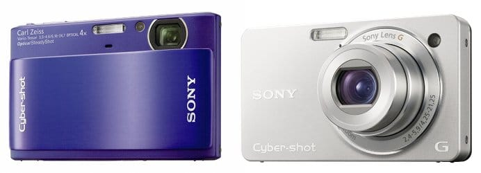 Sony Cybershot DSC-TX1 and DSC-WX1 digital cameras