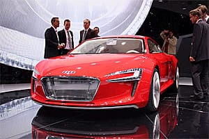 The Audi e-Tron made a surprise showing