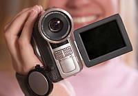 Man using camcorder