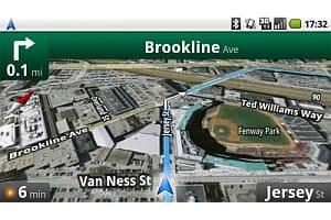 Google Maps Navigation sat nav screenshot