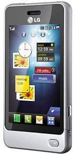 LG Pop 3-inch touchscreen mobile - silver