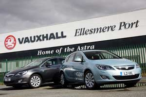 Vauxhall Astra at Ellesmere Port