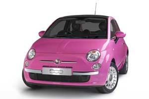 Fiat 500 Pink