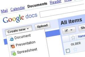 Google Docs screenshot - document presentation spreadsheet