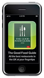Which? Good Food Guide iphone app