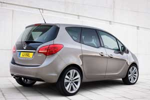 New Vauxhall Meriva from rear