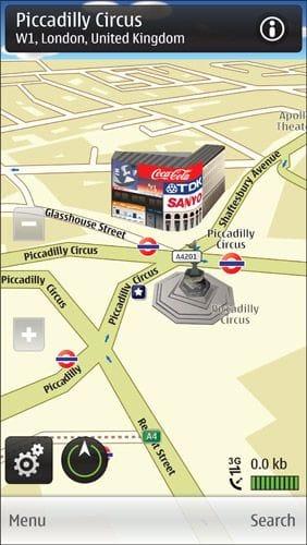 Nokia Ovi Maps free turn-by-turn sat nav screenshot