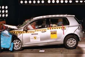 VW Golf Euro NCAP crash test