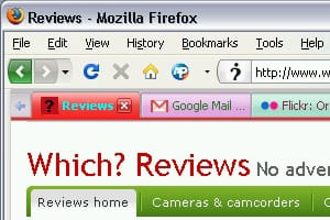 Firefox colorful tabs add-on screenshot