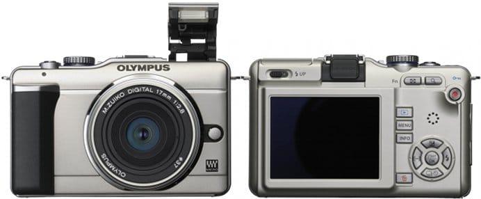 Olympus PEN E-PL1 MFT digital camera - front and rear