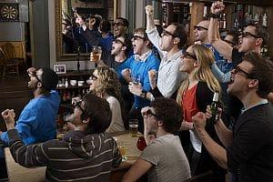 Pub 3D TV from Sky Sports