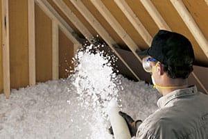 Blown fibre insulation