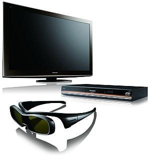 Panasonic 3D TV, Blu-ray player and glasses - CES 2010