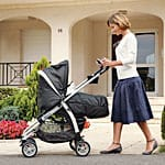 Baby in a Graco pushchair
