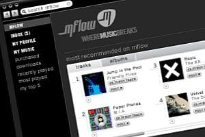 Mflow MP3 download site screenshot