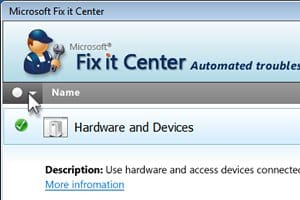 Microsoft Fix It Center Windows screenshot
