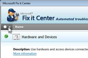 Microsoft Fix It Center Windows screenshot