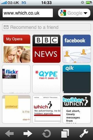 Opera Mini iPhone browser screenshot - www.which.co.uk
