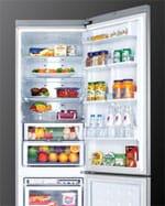 Samsung fridge freezer blue handle lighting