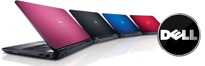 Dell Inspiron R laptops - pink, blue, black red