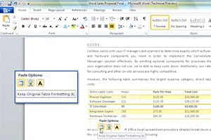 Office 2010 Paste Preview