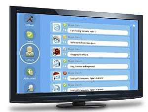 Skype HD on Panasonic Viera LCD and plasma TVs