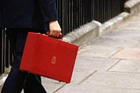 Chancellor with red briefcase