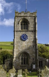 British Gas urges churches to go solar: picture of a church steeple