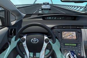 Toyota Prius pre-crash