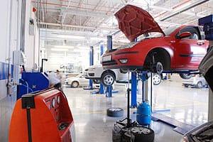 Car garage servicing