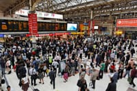 Crowded train station