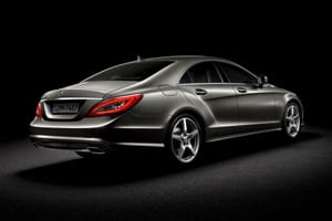 Front and rear lights on the new CLS use LED technology