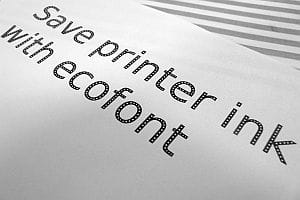 Save printer ink with ecofont