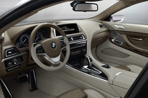 BMW 6: Controls are angled towards the driver