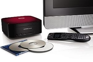 Dell Zino with DVDs and remote - red
